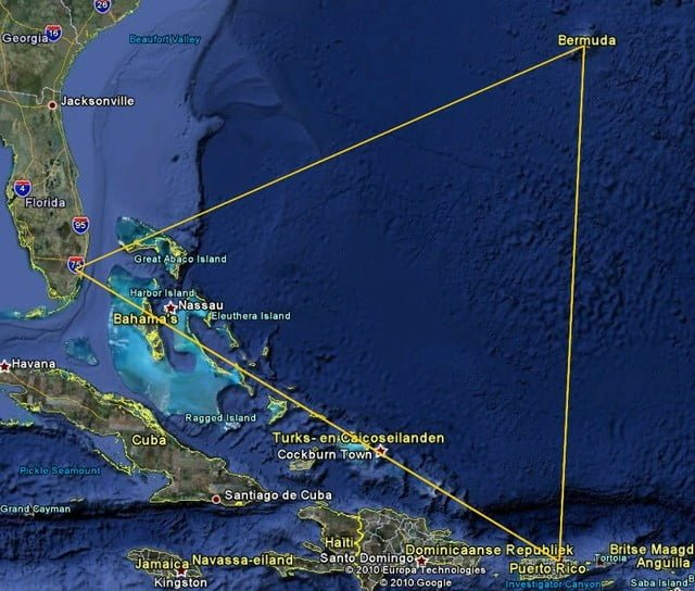 The conspiracy about Bermuda Triangle.