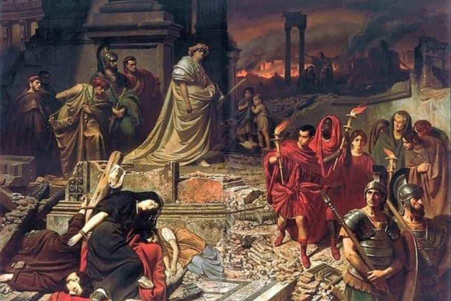 history finds Nero guilty